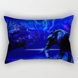 ELEPHANT LIGHTNING AND AFRICAN NIGHTS Rectangular Pillow