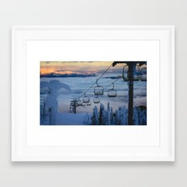 LAST CHAIR Framed Art Print