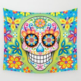Sugar Skull Art (Jubilee) Wall Tapestry