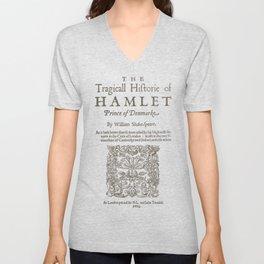 Shakespeare, Hamlet 1603 Unisex V-Neck