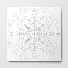 Lines mandala Metal Print