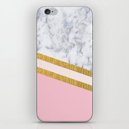 St Lucia striped blush marble iPhone Skin