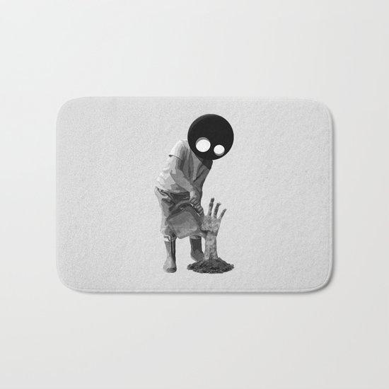 Gardener (black and white) Bath Mat