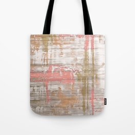 Living Coral, Camel And Gray Texture Tote Bag