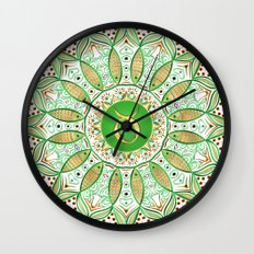 Zodiac Sign Taurus Mandala Wall Clock
