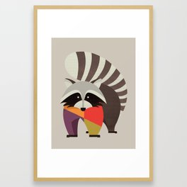 Raccoon Framed Art Print