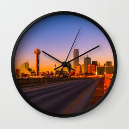Sunset in Dallas Wall Clock
