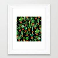 cacti Framed Art Prints featuring Cacti by Sian Keegan