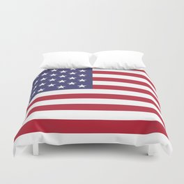 USA National Flag Authentic Scale G-spec 10:19 Duvet Cover