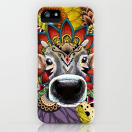 TRIBAL COW iPhone Case