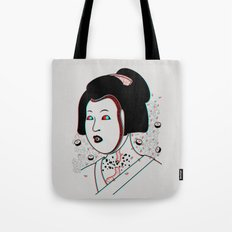 Psychedelic Geisha Tote Bag