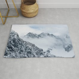 Mountains and clouds Rug