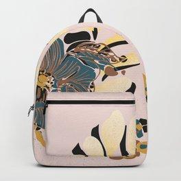 black & floral #blush Backpack