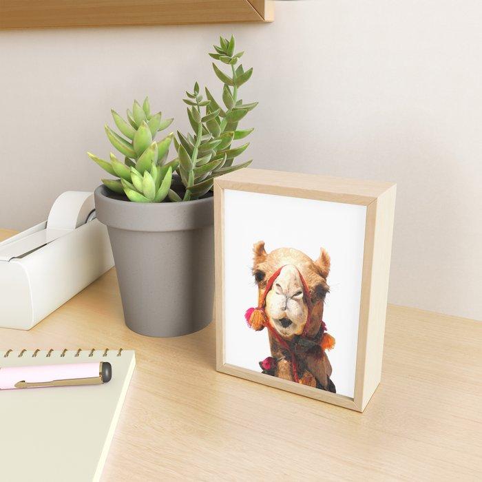 Camel Portrait Framed Mini Art Print