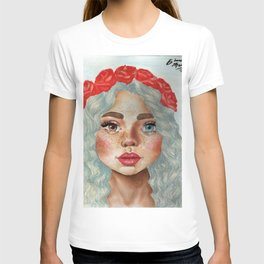 'Girl With Flower Crown' T-shirt