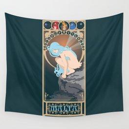 Malta Nouveau -  Sea Prince and the Fire Child Wall Tapestry