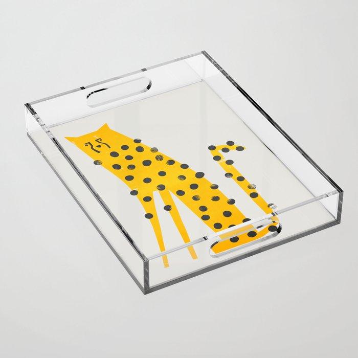 Speedy Cheetah Acrylic Tray
