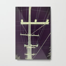Trembling Voice On The Wires Metal Print