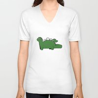 dino V-neck T-shirts featuring Dino by Conrad