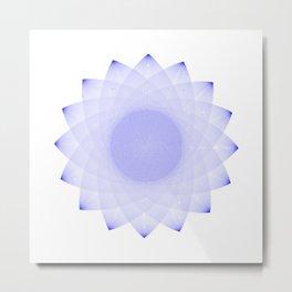 AFRAD 'SINGULAR' | 16-POINT MANDALA (BLUE) Metal Print