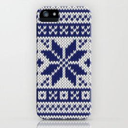 Winter knitted pattern 5 iPhone Case