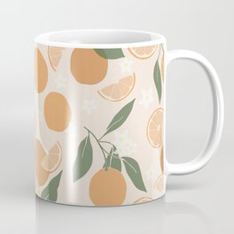 Modern Abstract Orange Pattern Coffee Mug