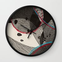 dance Wall Clocks featuring Dance by Julia Tomova