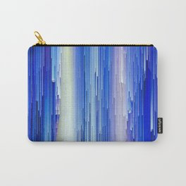 Frozen blue waterfall abstract digital painting Carry-All Pouch