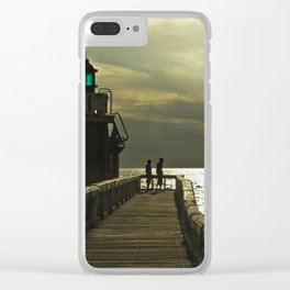 Boys at lighthouse Clear iPhone Case