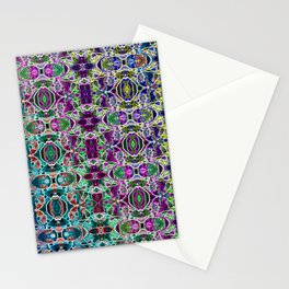 Abstract Rainbow Mandala Stationery Cards
