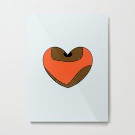 Wicket Character Heart Metal Print