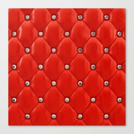 Red upholstery pattern Canvas Print