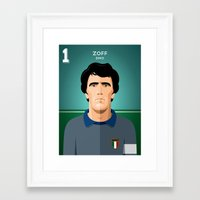juventus Framed Art Prints featuring Zoff 1982 by boobee