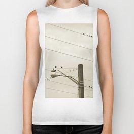 Birds on wires Biker Tank