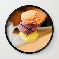 macarons Wall Clocks featuring macarons by raffons
