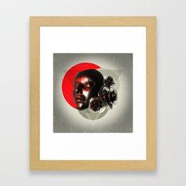 Hers mask staring at stars Framed Art Print