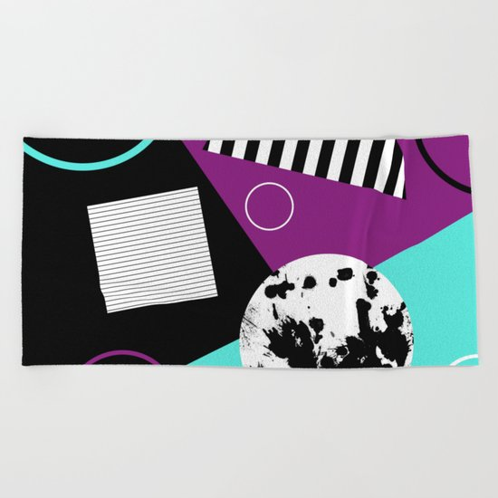 Bits And Bobs 2 - Abstract, geometric design Beach Towel