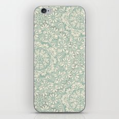 Sage Medallion with Butterflies & Daisy Chains iPhone & iPod Skin
