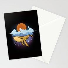 Purple Ocean Stationery Cards