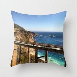 Bixby Bridge Throw Pillow