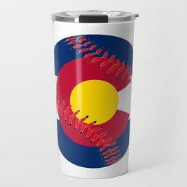Colorado Flag Baseball Travel Mug