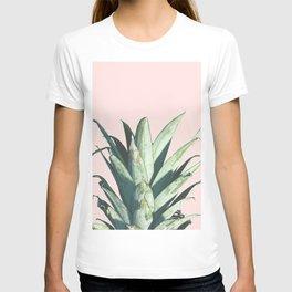 Pineapple on Blush Pink T-shirt