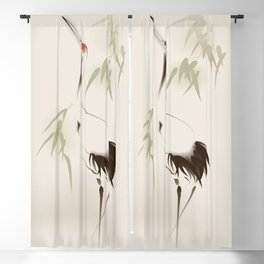 Oriental Red-Crowned Crane 001 Blackout Curtain