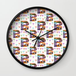 Letter B - Bird Wall Clock