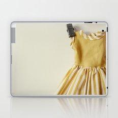 Doll Closet Series - Mustard Stripe Dress Laptop & iPad Skin