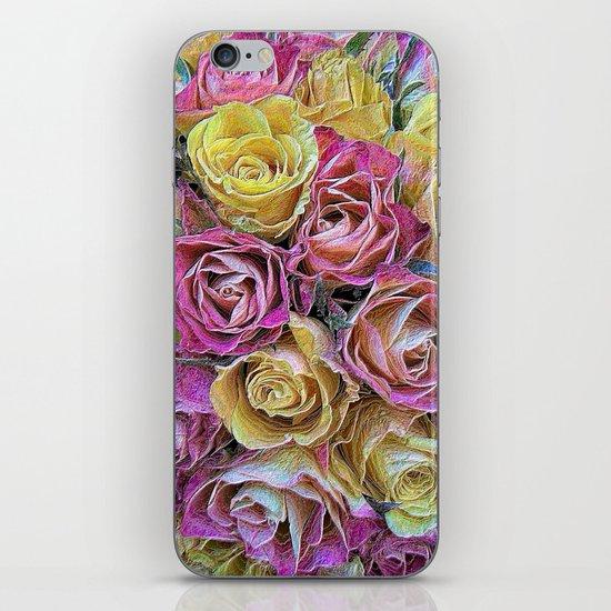 Vintage Paper Roses iPhone & iPod Skin