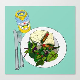Healthy Falafel Wrap Lunch Canvas Print