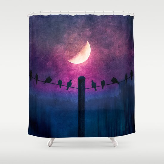 Symphony (colour option) Shower Curtain