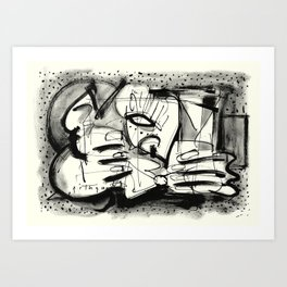 Drinker Art Print