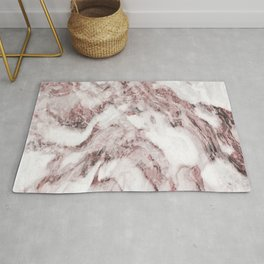 White and Pink Marble Mountain 04 Rug